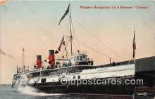 shi056092 - Niagara Navigation Co's Steamer Corona  Ship Postcard Post Card
