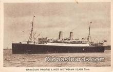 shi056095 - Canadian Pacific Liner Metagama  Ship Postcard Post Card