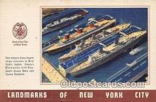 shi056108 - New Yorks Harbor  Ship Postcard Post Card