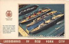 shi056109 - New Yorks Harbor  Ship Postcard Post Card