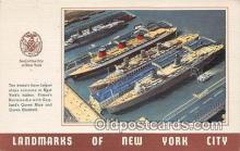 shi056110 - New Yorks Harbor  Ship Postcard Post Card