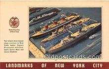 shi056111 - New Yorks Harbor  Ship Postcard Post Card