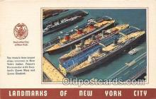 shi056112 - New Yorks Harbor  Ship Postcard Post Card