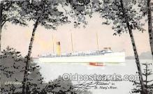 shi056113 - CPR Great Lakes Steamer St Mary's River Ship Postcard Post Card