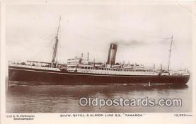 shi056118 - Shaw Savill & Albion Line Ss Tamaroa  Ship Postcard Post Card