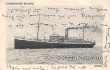 shi056121 - Chargeurs Reunis Groix Ship Postcard Post Card