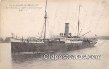 shi056128 - Le Paquebot Martinique Gereale Transaltantique Ship Postcard Post Card