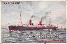 shi056136 - La Lorraine Cie Cie Transatlantique Ship Postcard Post Card