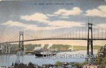 shi056142 - M/S Amerika Europe East Asiatic Co, St Johns Bridge Portland, Oregon USA Ship Postcard Post Card