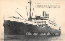 shi056152 - Le Havre Le Transatiantique Leopold'na Ship Postcard Post Card