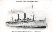 shi056154 - Royal Mail Steamer Balmoral Castle Union Castle Line Ship Postcard Post Card