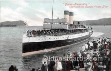 shi056161 - Queen Alexandra Campbeltown Pier Ship Postcard Post Card