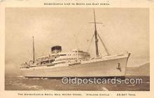 shi056166 - Union Castle Royal Mail Motor Vessel Athlone Castle Ship Postcard Post Card