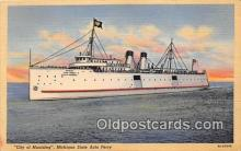 shi056174 - City of Munising Michigan State Auto Ferry Ship Postcard Post Card