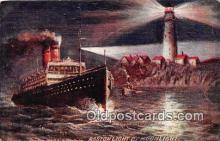 shi056182 - Boston Light  Ship Postcard Post Card