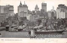 shi056186 - River Front New York USA Ship Postcard Post Card