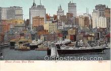 shi056187 - River Front New York USA Ship Postcard Post Card