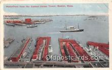 shi056188 - Waterfront, Custom House Tower Boston, Mass USA Ship Postcard Post Card