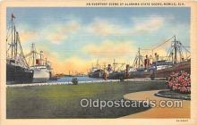 shi056189 - Alabama State Docks Mobile, Alabama Ship Postcard Post Card