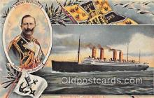 shi056190 - Reproduction - Kaiser Wilhelm II Schnelldampfer, North German Lloyd Liner Ship Postcard Post Card