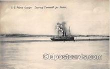 shi056192 - SS Prince George Yarmouth for Boston USA Ship Postcard Post Card