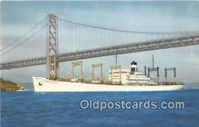 shi056196 - SS American Transport Outbound to the Orient Ship Postcard Post Card
