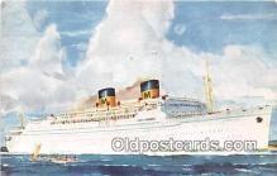 shi056204 - Matson Lines Luxury Liner Lurline Honolulu Ship Postcard Post Card