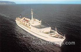 shi056205 - Western Cruise Lines SS Azure Seas, Miami, Florida Ship Postcard Post Card
