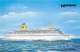 shi056213 - Homeric Italina Crew Ship Postcard Post Card
