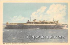 shi056216 - MV Abegweit Prince Edward Island, Canada Ship Postcard Post Card