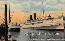 shi056220 - Steamer Harvard San Pedro, California Ship Postcard Post Card