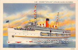 shi056223 - Steamer Catalina Catalina Island, California Ship Postcard Post Card