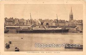 shi056226 - Cote D'Emeraude St Malo, Les Quais Ship Postcard Post Card