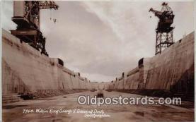 shi056229 - Within King George V Graving Dock Southampton Ship Postcard Post Card