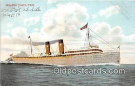 shi056231 - Steamer Northwest  Ship Postcard Post Card