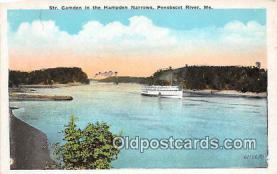 shi056235 - Str Camden, Hampden Narrows Penobscot River, ME Ship Postcard Post Card