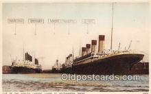 shi056237 - Mauretania, Berengaria Southampton Docks Ship Postcard Post Card