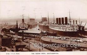shi056239 - Ocean Dock Southampton Ship Postcard Post Card
