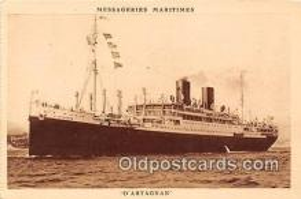 shi056242 - D'Artagnan Messageries Maritimes Ship Postcard Post Card