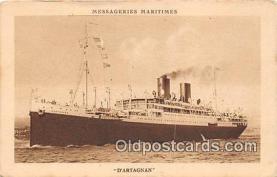 shi056243 - D'Artagnan Messageries Maritimes Ship Postcard Post Card