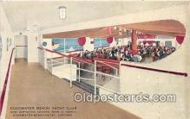 shi056245 - Edgewater beach Yacht Club Edgewater Beach Hotel, Chicago Ship Postcard Post Card