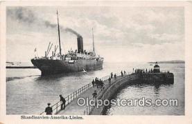 shi056251 - Skandinavien Amerika Linien  Ship Postcard Post Card