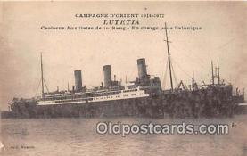 shi056257 - Luetetia Croiseur Auxiliaire de le Rang Ship Postcard Post Card
