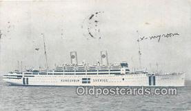shi056258 - Motorliner Kungsholm Swedish American Line Ship Postcard Post Card