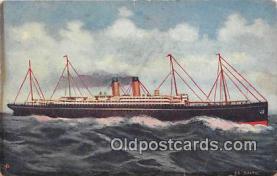 shi056265 - Steamship Baltic White Star Fleet Ship Postcard Post Card
