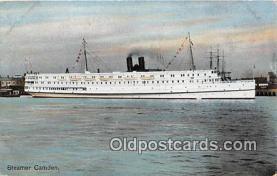 shi056268 - Steamer Camden  Ship Postcard Post Card
