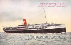 shi056269 - New Palatial Steamship Avalon Santa Catalina Island, California Ship Postcard Post Card