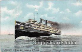 shi056270 - Steamer City of Cleveland D & C Line Ship Postcard Post Card