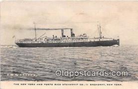 shi056276 - SS Brazos New York, Broadway Ship Postcard Post Card