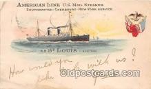 shi056277 - American Line US Mail Steamer SS St Louis Ship Postcard Post Card